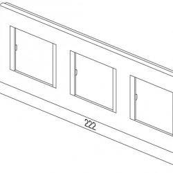 Okvir modul 3 x 2 M PW
