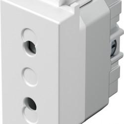 Vtičnica Modul 2P 1M bela