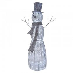 Novoletne lučke led-120, dekoracija snežak retan 124cm, timer