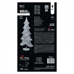Novoletne lučke led-60, dekoracija drevo 90cm