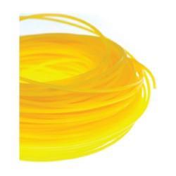 Nitka za kosilnico 1,3x15 rumena